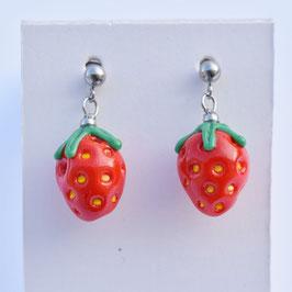 Ohrstecker Erdbeeren