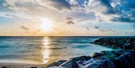 Wandbild 2 Malediven Sonnenuntergang Farbe