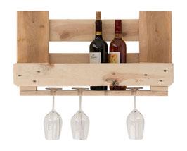 relaxedLiving Weinregal aus Paletten | DIY Möbel | Aufbewahrung für Weinflaschen und Weingläser | Natur | unbehandeltes Holz