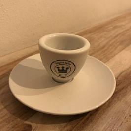 Espressotasse / Cappuccinotasse mit Unterteller - mattiert