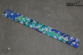 Bracelet lanière tissu liberty Nippori bleu & or
