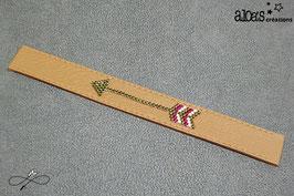 Bracelet lanière cuir de veau fauve