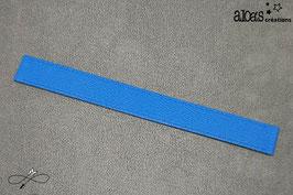 Bracelet lanière cuir de veau bleu électrique