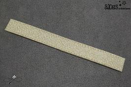 Bracelet lanière en lurex or