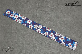 Bracelet lanière tissu liberty of London Ffion indigo