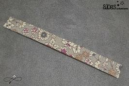 Bracelet lanière tissu liberty Froufrou Petites Fleurs taupe