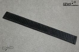 Bracelet lanière cuir d'iguane noir verni