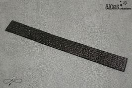 Bracelet lanière cuir veau velours noir