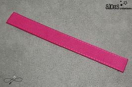 Bracelet lanière gros grain Froufrou rose framboise
