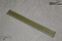 Bracelet lanière cuir de veau kaki