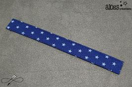 "Bracelet lanière tissu Froufrou ""Etoile bleue intense"""