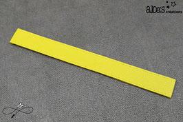 Bracelet lanière cuir de veau jaune citron