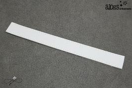 Bracelet lanière cuir de vachette blanc
