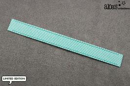 """Bracelet lanière Petit Pan motif """"Rigato azur"""" & son bracelet coordonné réglable"""