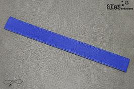 Bracelet lanière cuir de vachette bleu roi