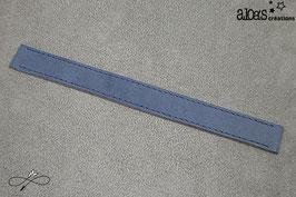 Bracelet lanière cuir de veau mat bleu myrtille