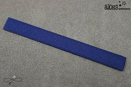 Bracelet lanière satin gros grain bleu marine
