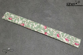Bracelet lanière tissu liberty Green Garden