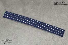 """Bracelet lanière tissu Froufrou """"Tout ce qui brille Navy à pois argent"""""""