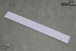 Bracelet lanière tissu à rayures bleues