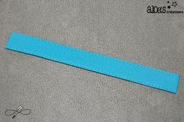Bracelet lanière cuir de vachette bleu turquoise