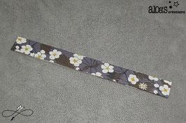 Bracelet lanière tissu liberty of London Mitsi gris