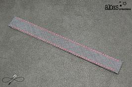 Bracelet lanière tissu motif pied de poule