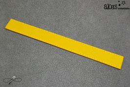 Bracelet lanière cuir de vachette jaune soleil