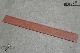 Bracelet lanière cuir de vachette marron