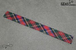 Bracelet lanière motif écossais vert
