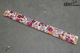 Bracelet lanière tissu liberty Froufrou Les petits bouquets rose
