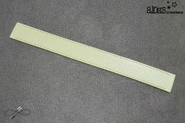 Bracelet lanière cuir de veau vert pastel