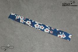Bracelet lanière tissu liberty of London Mitsi bleu canard