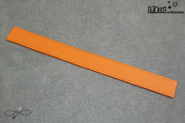Bracelet lanière cuir de veau orange