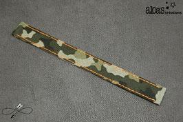 Bracelet lanière tissu motif camouflage