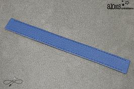 Bracelet lanière cuir de veau bleu orage