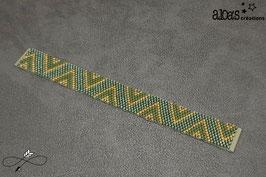 Bracelet lanière tissage peyote Mattéus