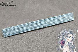 """Bracelet lanière Petit Pan motif """"Chardon vert loch-ness"""" & son bracelet coordonné réglable"""