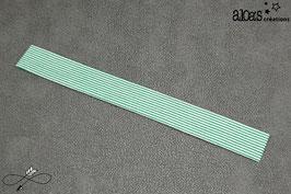 Bracelet lanière tissu à rayures vertes