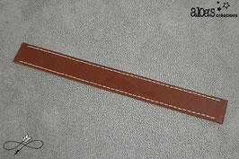 Bracelet lanière cuir de veau noisette