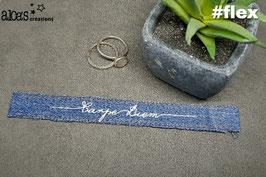 Bracelet lanière en jean
