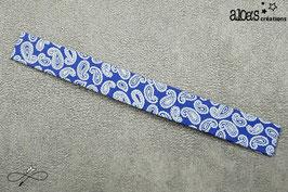 Bracelet lanière Cachemire bleu