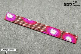 """Bracelet lanière Petit Pan motif """"Coquelicot rouge"""" & son bracelet coordonné réglable"""
