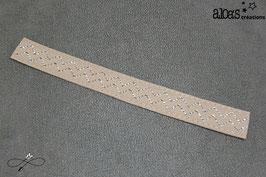 Bracelet lanière zig zag