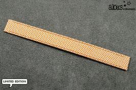 """Bracelet lanière Petit Pan motif """"Chardon orange"""" & son bracelet coordonné réglable"""