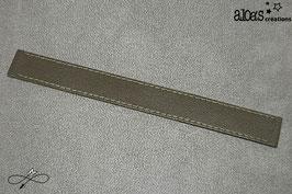 Bracelet lanière cuir de veau bronze
