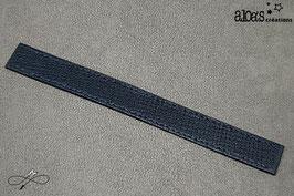 Bracelet lanière cuir de chèvre bleu marine
