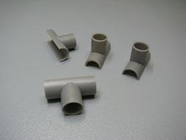 Kufenschuhe für 6mm Rohre