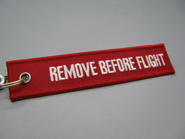 Label REMOVE BEFORE FLIGHT