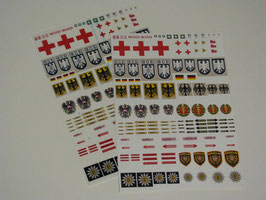Decalbögen mit Hoheits- , Warn- und Hinweiszeichen für 450er